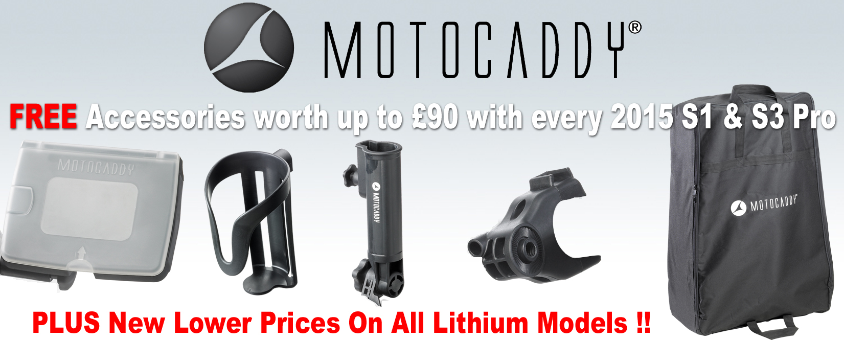 Motocaddy Free accessory pack 2015