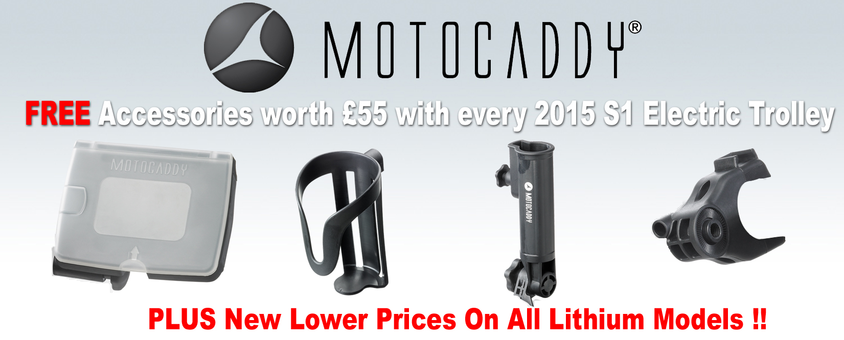 Motocaddy s1 2015 free accs