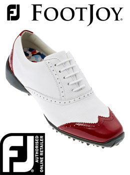 FootJoy FJ LoPro  Ladies Golf Shoes White/Red 97013