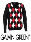 Galvin Green Cayman Sweater Black/Chilli Red/White