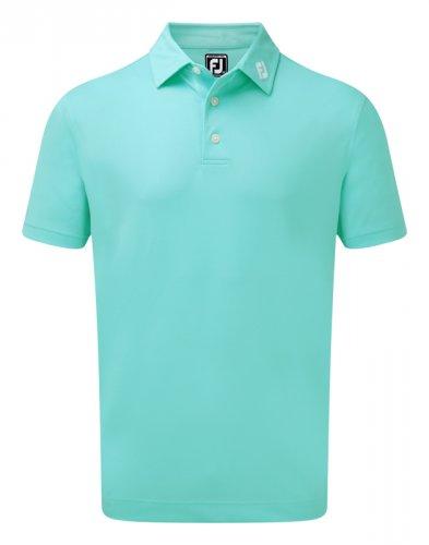 4307528a Footjoy Stretch Pique Shirt Aqua