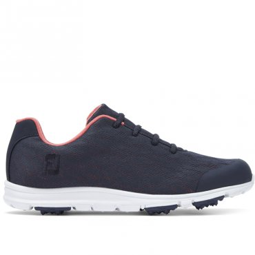 FootJoy enjoy Ladies Golf Shoes Navy/ Papaya 95714