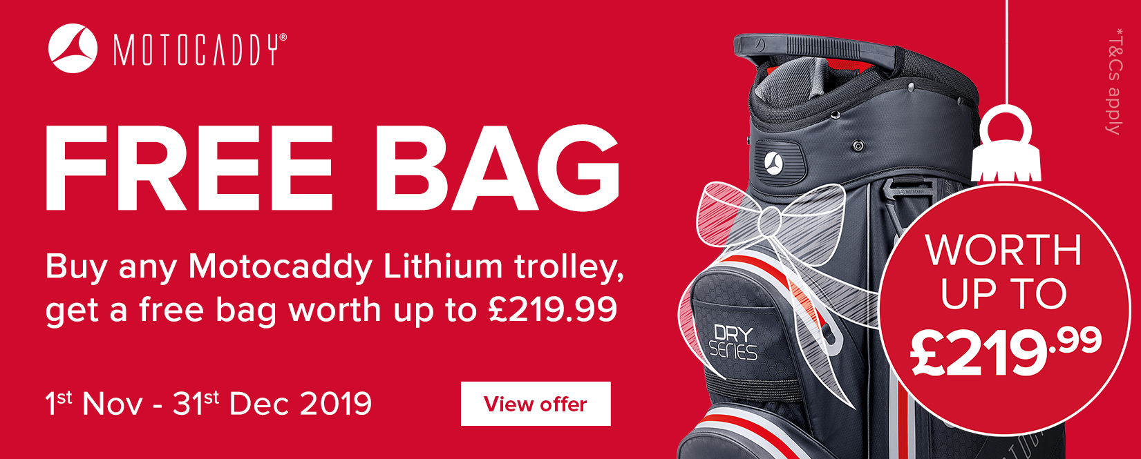Motocaddy Free Bag 2019