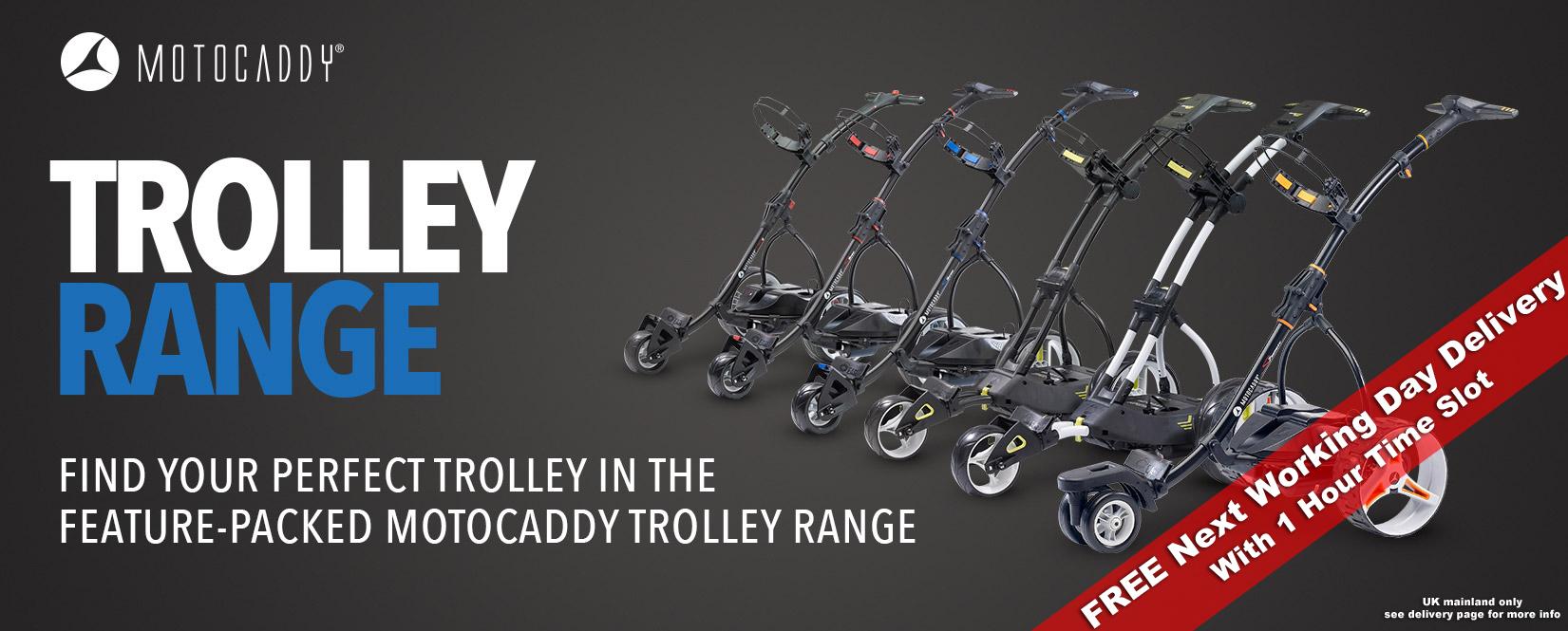 motocaddy electric trolleys