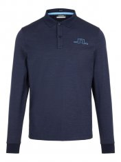 J.Lindeberg Bridge Reg Fit Longsleeved Polo Shirt Navy