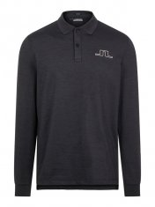 J.Lindeberg Bridge Reg Fit Longsleeved Polo Shirt Black
