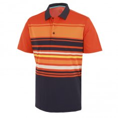 Galvin Green Miguel Polo Shirt Rusty Orange/Navy