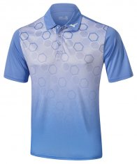 Mizuno Gradient Hexagon Polo Sax Blue