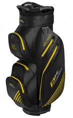 Powakaddy Dri Tech Waterproof Cart Bag Black/Gun Metal/Yellow
