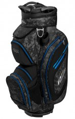 Powakaddy Premium Tech Cart Bag Black/Grey Camo/Blue