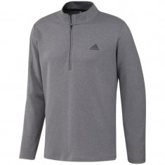 adidas 1/4 Zip 3 Stripe Golf Pullover Grey