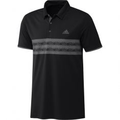 adidas Core Golf Polo Shirt Black/Grey