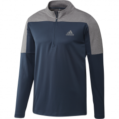 adidas 1/4 Zip UPF Lightweight Golf Pullover Navy/Grey