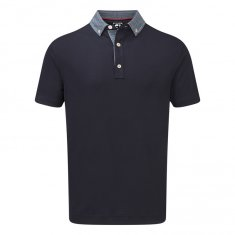 Footjoy Stretch with Woven Buttondown Collar Navy