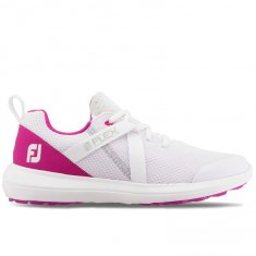 FootJoy Flex Ladies Golf Shoes White/Rose 95726