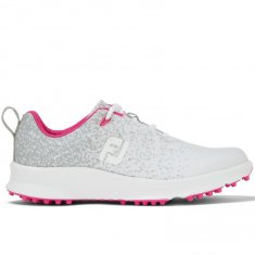 FootJoy Leisure Ladies Golf Shoes Silver/White/Fuchsia 92926
