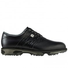 FootJoy DryJoys Tour Golf Shoes Black/ Black Croc 53717