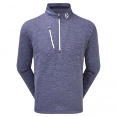 Footjoy Heather Pinstripe Chillout Pullover Twilight/ White