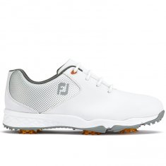 FootJoy Junior DNA Helix pattern golf shoes White/ Silver 45002
