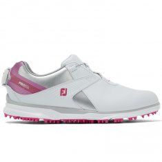 FootJoy Pro SL Ladies Golf Shoes BOA White/Silver/Rose 98119