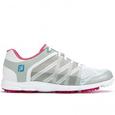 FootJoy Sport SL Ladies Golf Shoes Light Grey/ Berry 98027