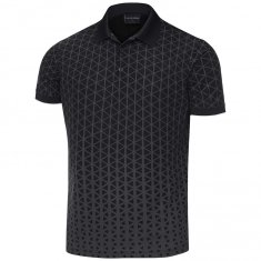 Galvin Green Matt Polo Shirt Carbon Black/ Iron Grey