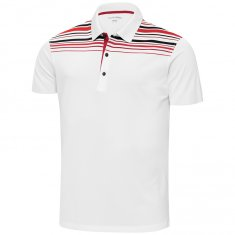 Galvin Green Melwin Polo Shirt White/ Red/ Black