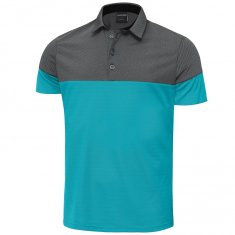Galvin Green Milton Polo Shirt Bluebird/ Black