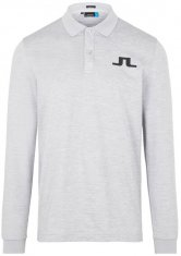 J.Lindeberg Big Bridge Longsleeved Polo Shirt Grey
