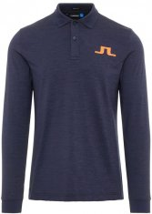 J.Lindeberg Big Bridge Longsleeved Polo Shirt Navy