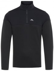 J.Lindeberg Hubbard Half Zip Sweater Black