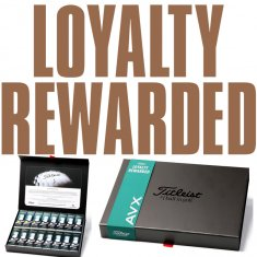 Titleist AVX BUY 3 get 1 FREE Loyalty Gift Pack Plain