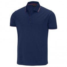 Galvin Green Miller Shirt Navy/ Electric Red/ White