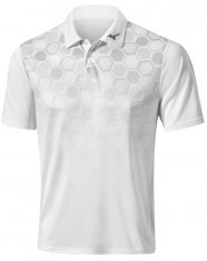 Mizuno Gradient Hexagon Polo White