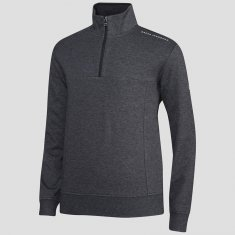 Oscar Jacobson Hawkes Course Half Zip Pullover Dark Grey