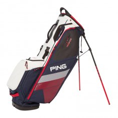 Ping Hoofer Stand Bag Navy/ White/ Red