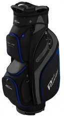 Powakaddy DLX Lite Cart Bag Black/Titanium/Blue