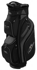Powakaddy DLX Lite Cart Bag Black/Titanium/Silver