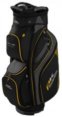 Powakaddy DLX Lite Cart Bag Black/Titanium/Yellow