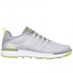 Skechers Go Golf Elite V.3 Grey Leather/ Lime Trim
