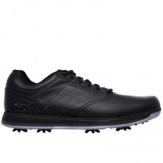 Skechers Go Golf Pro V.3 Black Leather/ Silver Trim