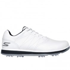 Skechers Go Golf Pro V.3 White Leather/ Navy Trim