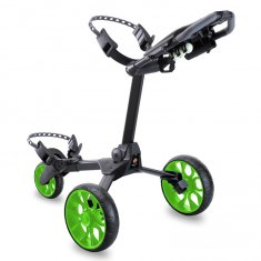 Stewart R1-S Push Trolley Black With Green Wheels
