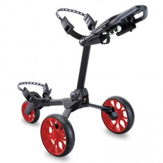 Stewart R1-S Push Trolley Black With Red Wheels
