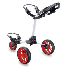 Stewart R1-S Push Trolley White With Red Wheels