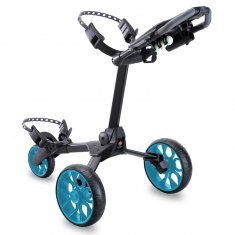 Stewart R1-S Push Trolley Black With Blue Wheels
