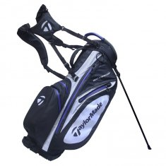 TaylorMade Waterproof Black/White/Navy Stand Bag
