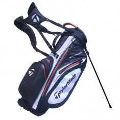 TaylorMade Waterproof Black/White/Red Stand Bag