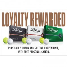 Titleist Pro V1, Pro V1x & AVX BUY 3 get 1 FREE (With Free Personalisation)