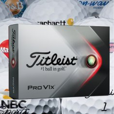 Titleist Pro V1x Golf Balls Printed With Logo (Minimum 12 Dozen)